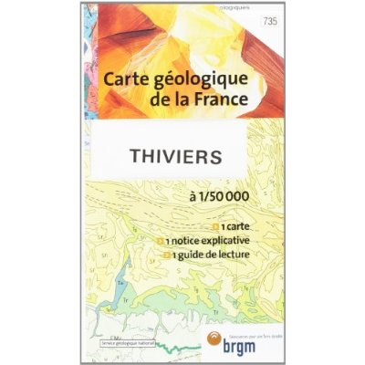 THIVIERS CARTE GEOLOGIQUE 1/50 000 N°735