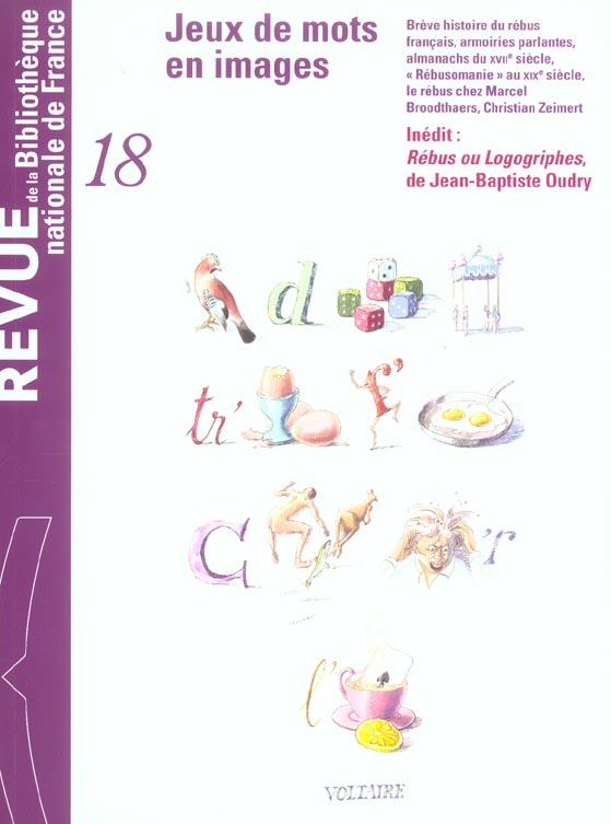 REVUE DE LA BNF 18. JEUX DE MOTS ET D'IMAGES
