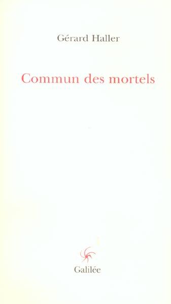 COMMUN DES MORTELS