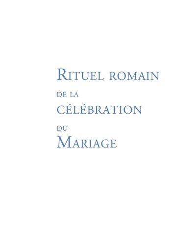 RITUEL DU MARIAGE - OUVRAGE DE TRAVAIL