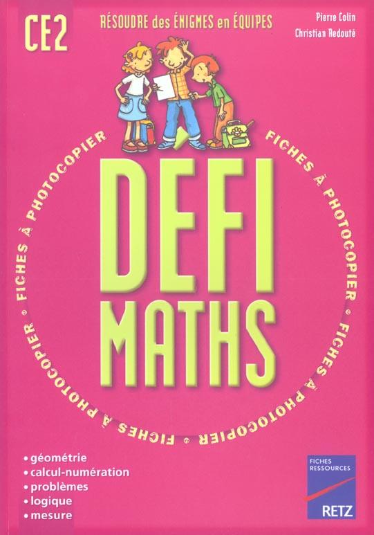 DEFI MATHS CE2