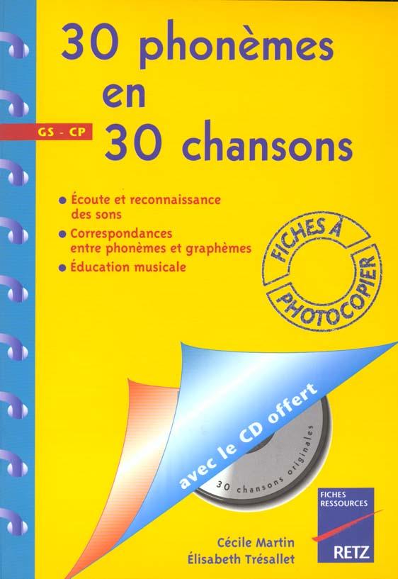 30 PHONEMES EN 30 CHANSONS CD