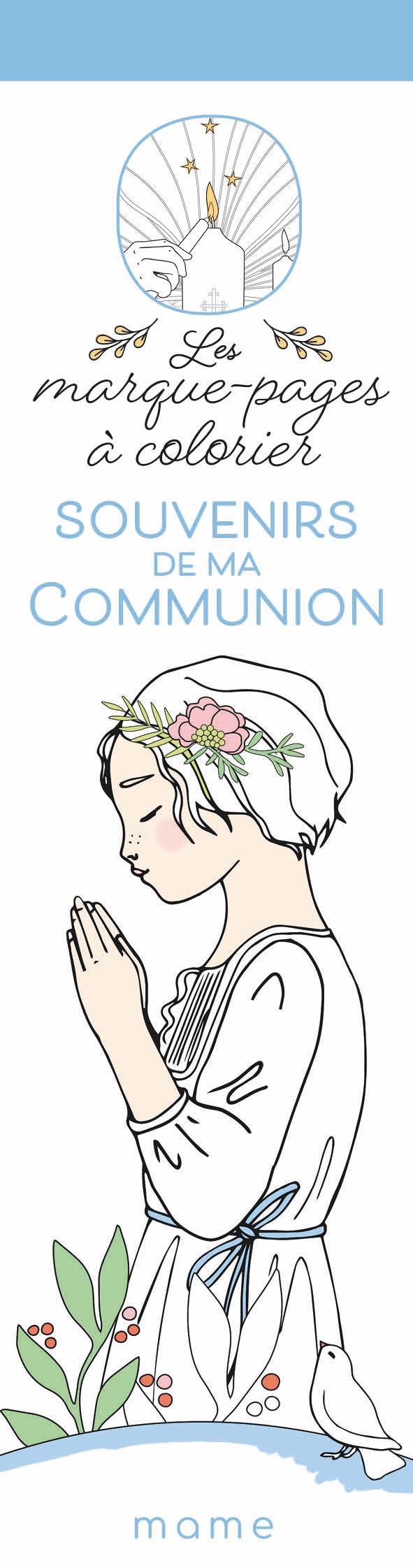 SOUVENIRS DE MA COMMUNION LES MARQUE PAGES A COLORIER