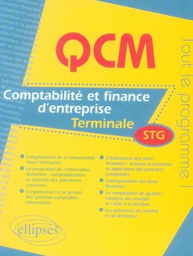 QCM COMPTABILITE ET FINANCE D'ENTREPRISE TERMINALE STG TOUT LE PROGRAMME !