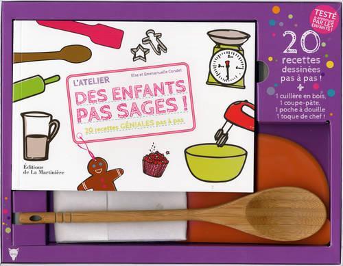 L'ATELIER DES ENFANTS PAS SAGES, COFFRET. 20 RECETTES GENIALES PAS A PAS