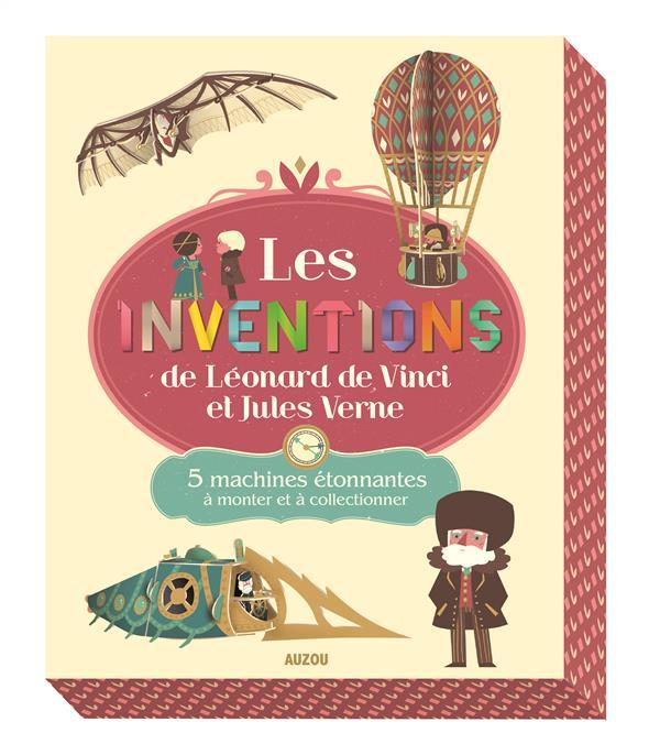 LES INVENTIONS DE LEONARD DE VINCI ET DE JULES VERNE. 5 MACHINES ETONNANTES A MONTER ET A COLLECTION