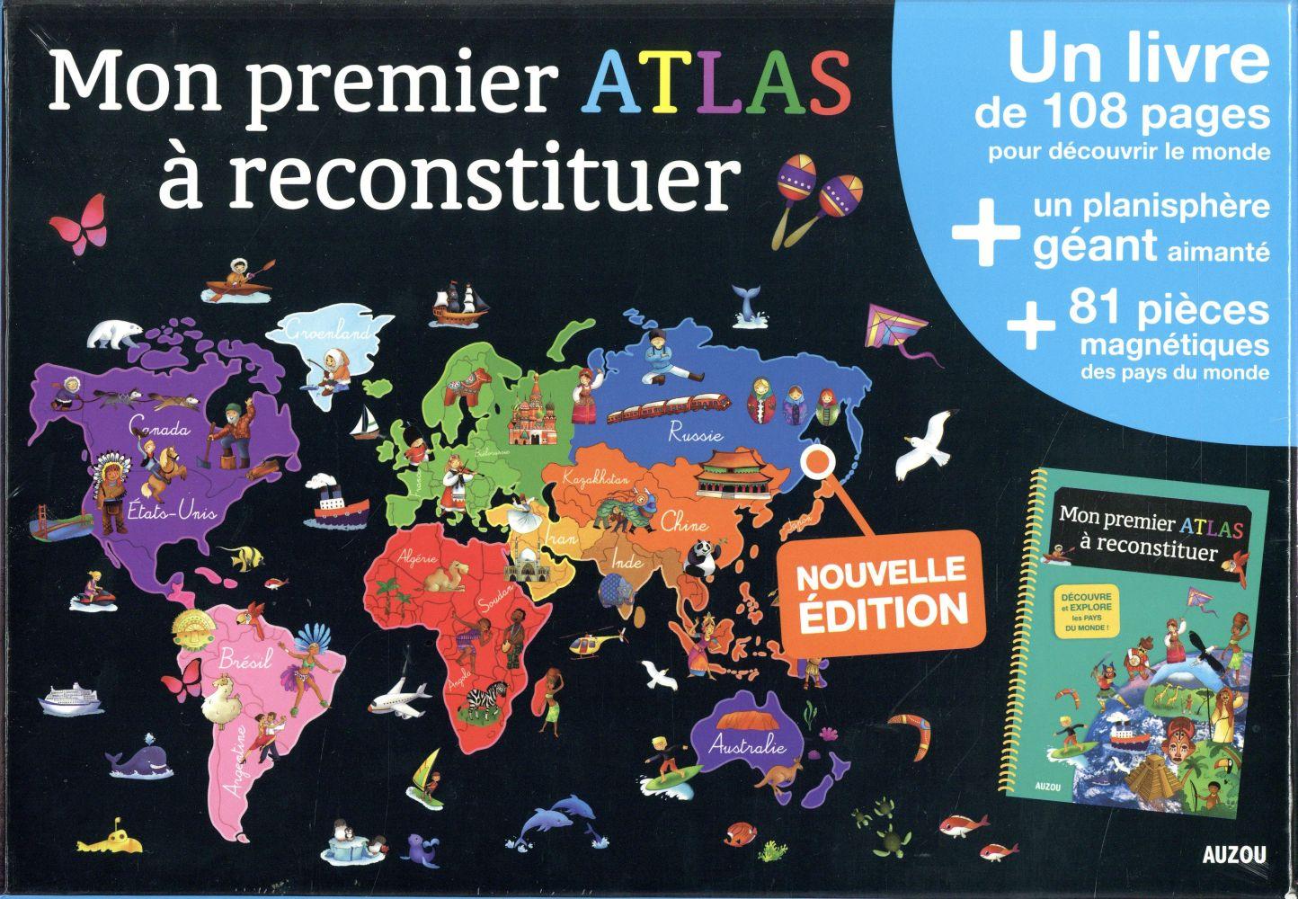 A LA DECOUVERTE DE - MON PREMIER ATLAS A RECONSTITUER