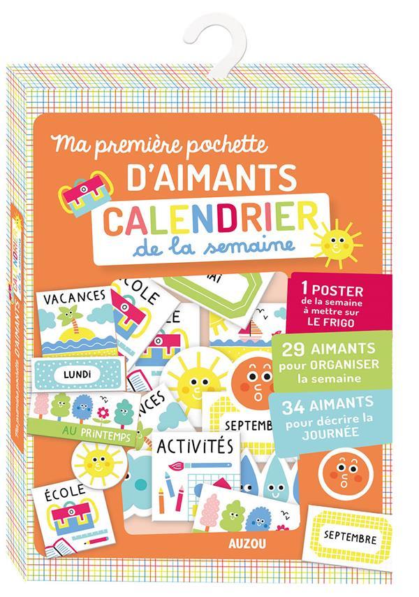 MA PREMIERE POCHETTE D'AIMANTS CALENDRIER DE LA SEMAINE