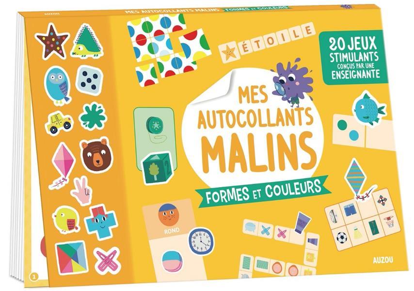 MES AUTOCOLLANTS MALINS - FORMES ET COULEURS