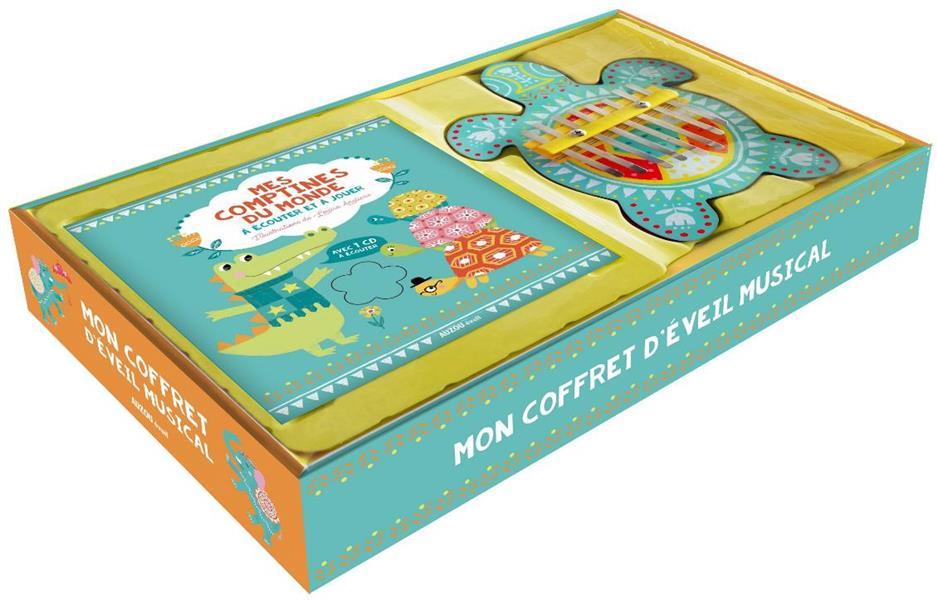 MON COFFRET D'EVEIL MUSICAL - MES COMPTINES DU MONDE A ECOUTER ET A JOUER - AVEC 1 CD A ECOUTER