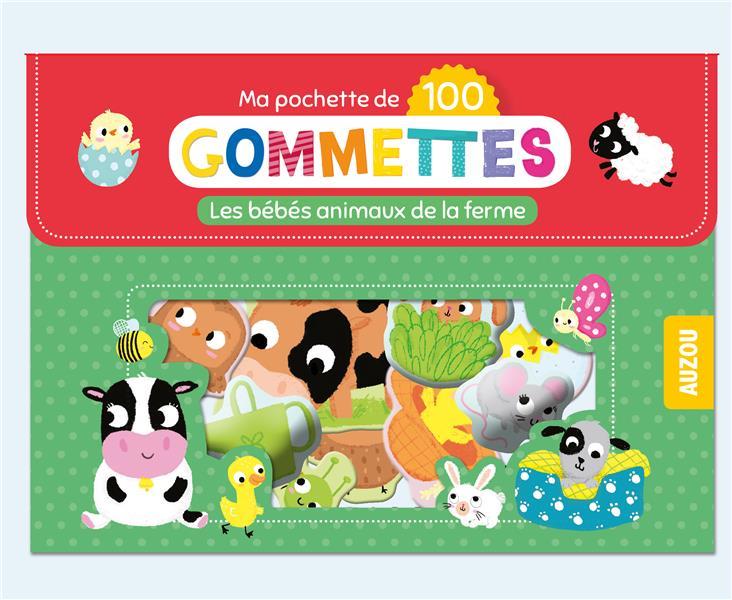 MA POCHETTE DE 100 GOMMETTES - LES BEBES ANIMAUX DE LA FERME