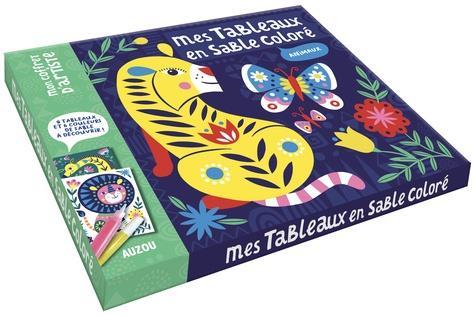 MES TABLEAUX EN SABLE COLORE - ANIMAUX - 8 TABLEAUX ET 6 COULEURS DE SABLE A DECOUVRIR