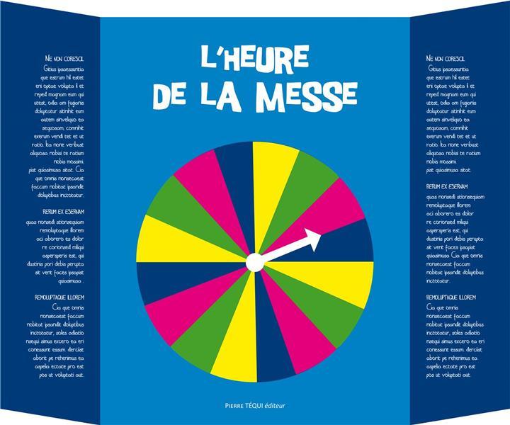 L'HEURE DE LA MESSE, UNE HORLOGE POUR SUIVRE LES ETAPES DE LA MESSE