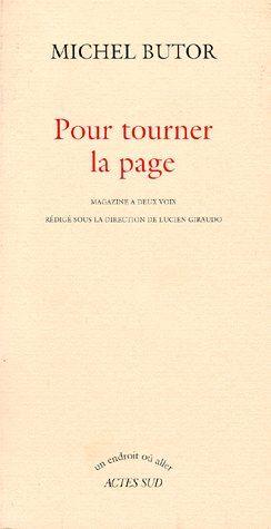 POUR TOURNER LA PAGE - MAGAZINE A DEUX VOIX