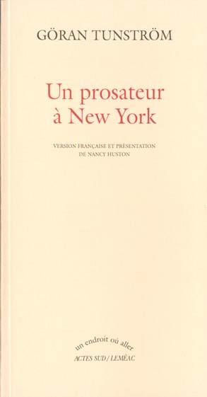 UN PROSATEUR A NEW-YORK