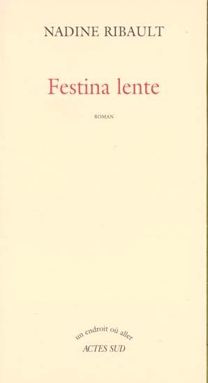 FESTINA LENTE ROMAN