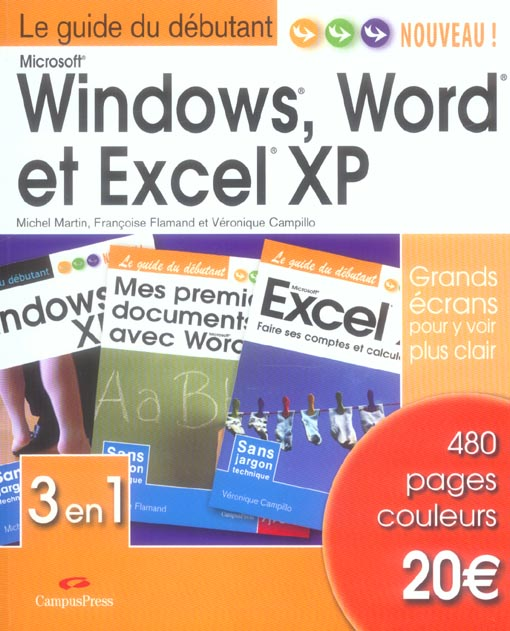 WINDOWS, WORD ET EXCEL XP