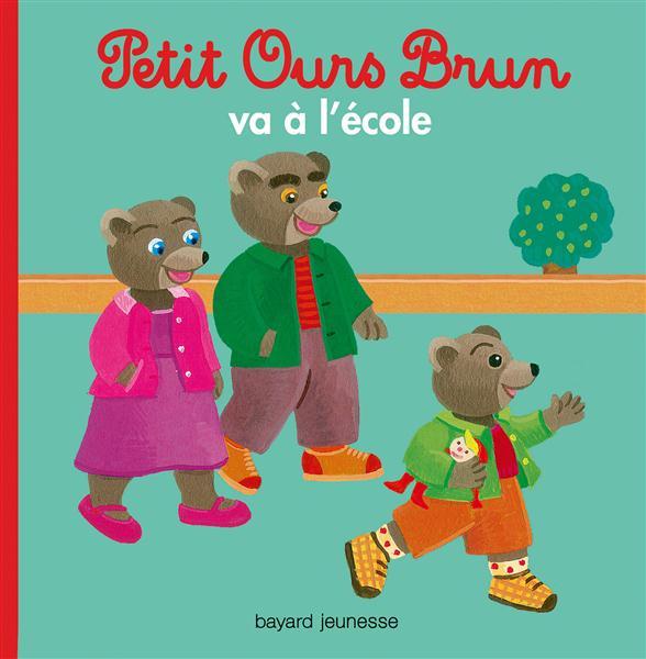 PETIT OURS BRUN VA A L'ECOLE