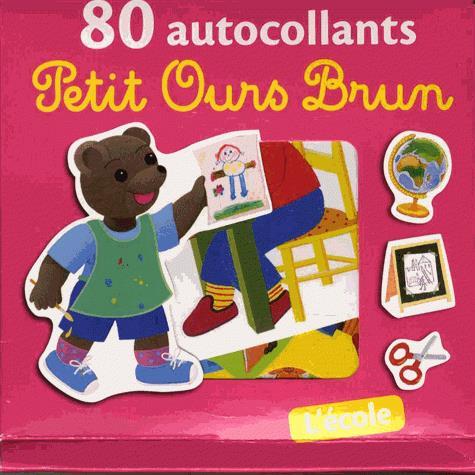 80 AUTOCOLLANTS PETIT OURS BRUN - L'ECOLE