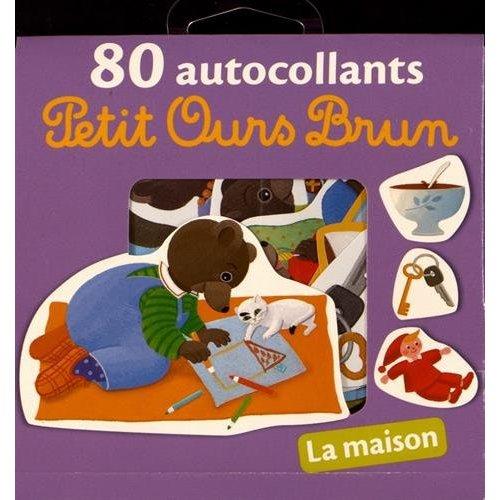 80 AUTOCOLLANTS PETIT OURS BRUN - LA MAISON - NE