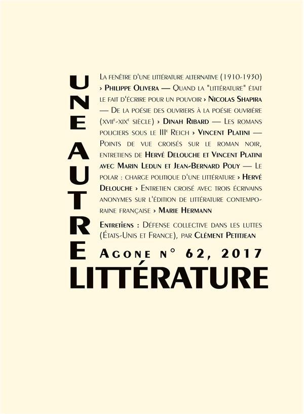 AGONE 63 - AUTRE(S) LITTERATURE(S)