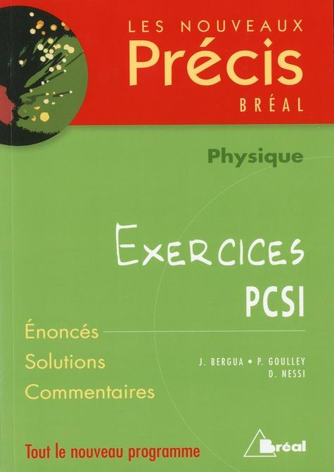 NOUVEAUX PRECIS EXERCICES PHYSIQUE PCSI