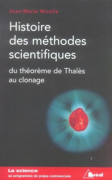 HISTOIRE DES METHODES SCIENTIFIQUES