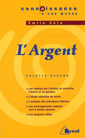 L ARGENT - ZOLA