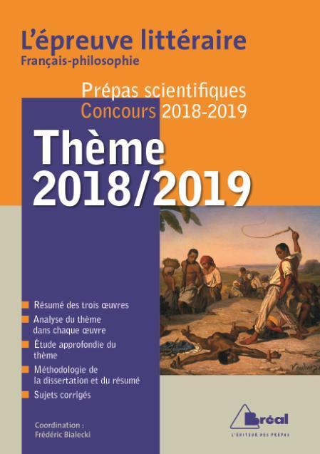 EPREUVE LITTERAIRE FRANCAIS-PHILOSOPHIE PREPAS SCIENTIFIQUES AVENTURE