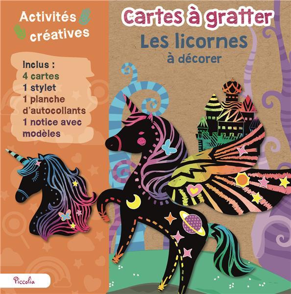 CARTES A GRATTER - ANIMAUX A DECORER/LES LICORNES