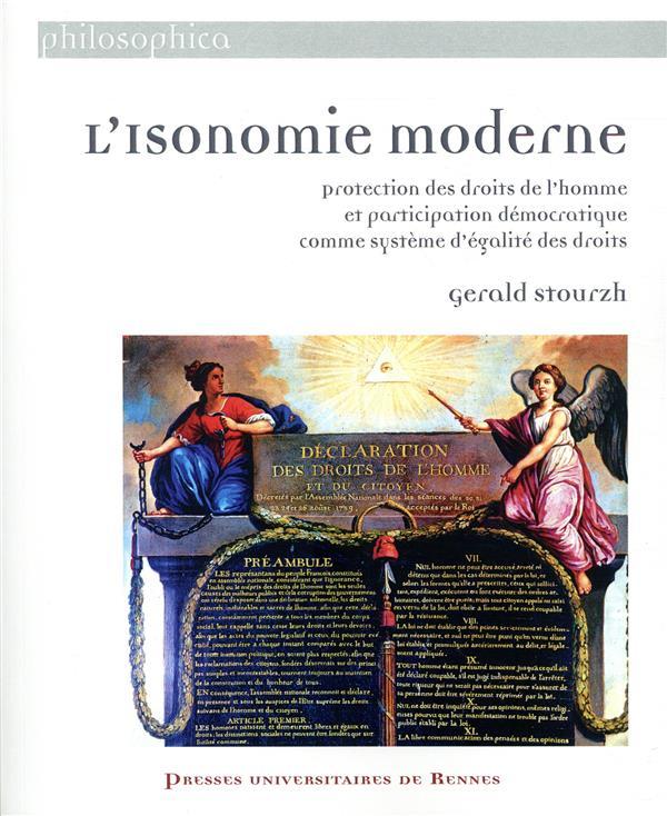 ISONOMIE MODERNE - PROTECTION DES DROITS DE L HOMME ET PARTICIPATION DEMOCRATIQUE COMME SYSTEME D E