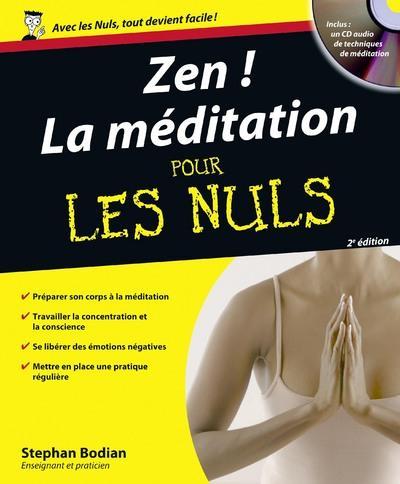 ZEN LA MEDITATION POUR LES NULS 2ED + CD