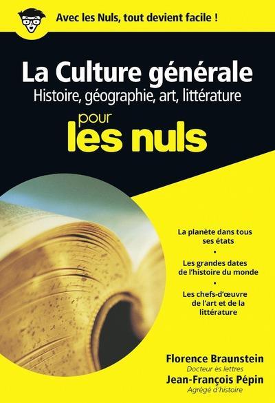 CULTURE GENERALE POCHE POUR LES NULS TOME 1 - VOL01