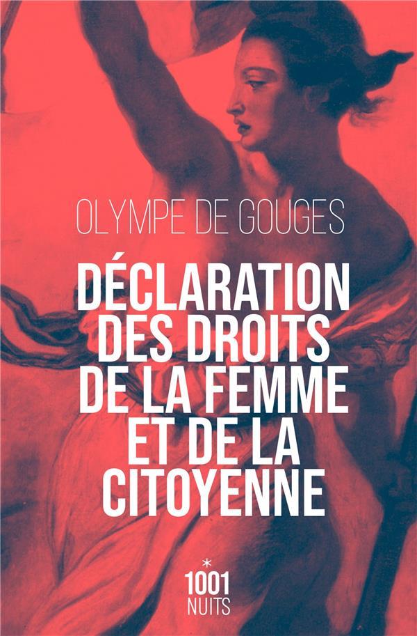 DECLARATION DES DROITS DE LA FEMME ET DE LA CITOYENNE-NED