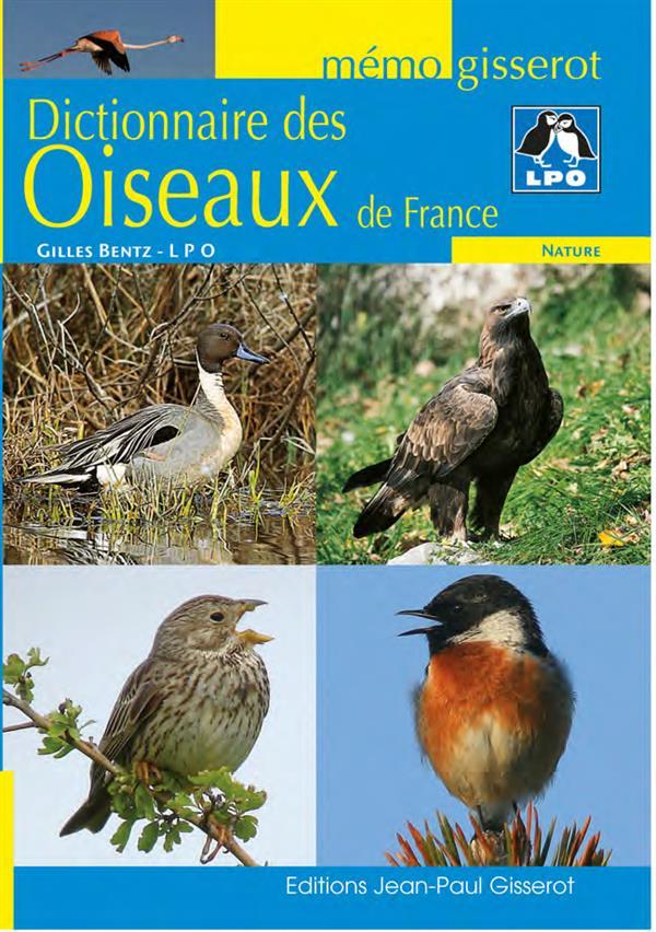 DICTIONNAIRE DES OISEAUX DE FRANCE MEMO