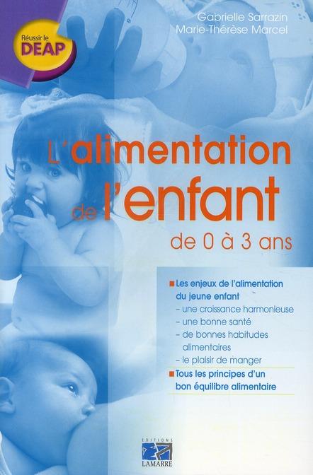 L ALIMENTATION DE L ENFANT DE 0 A 3 ANS