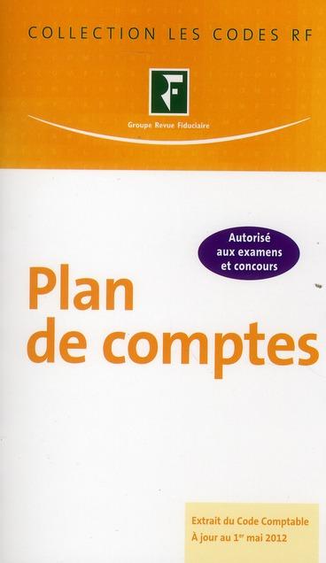 PLAN DE COMPTES. EXTRAIT DU CODE COMPTABLE A JOUR DU 1ER MAI2012.