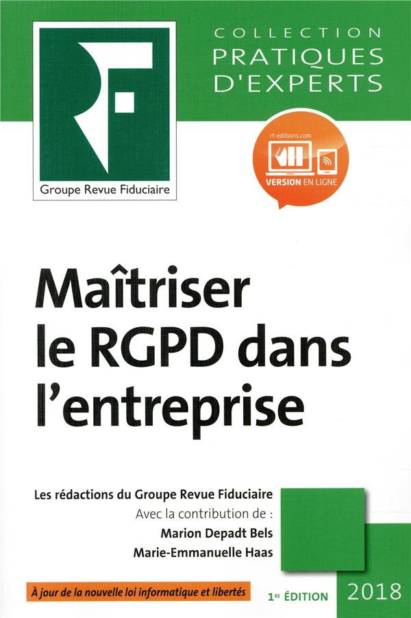 MAITRISER LE RGPD DANS L ENTREPRISE