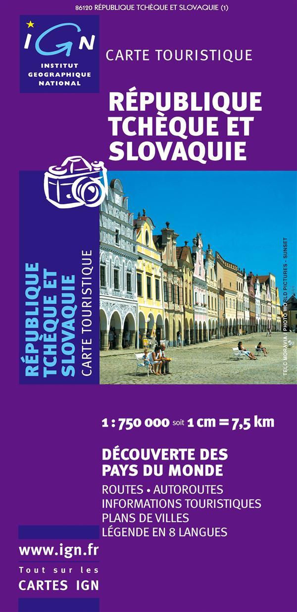 86120 REPUBLIQUE TCHEQUE ET SLOVAQUIE  1/750.000