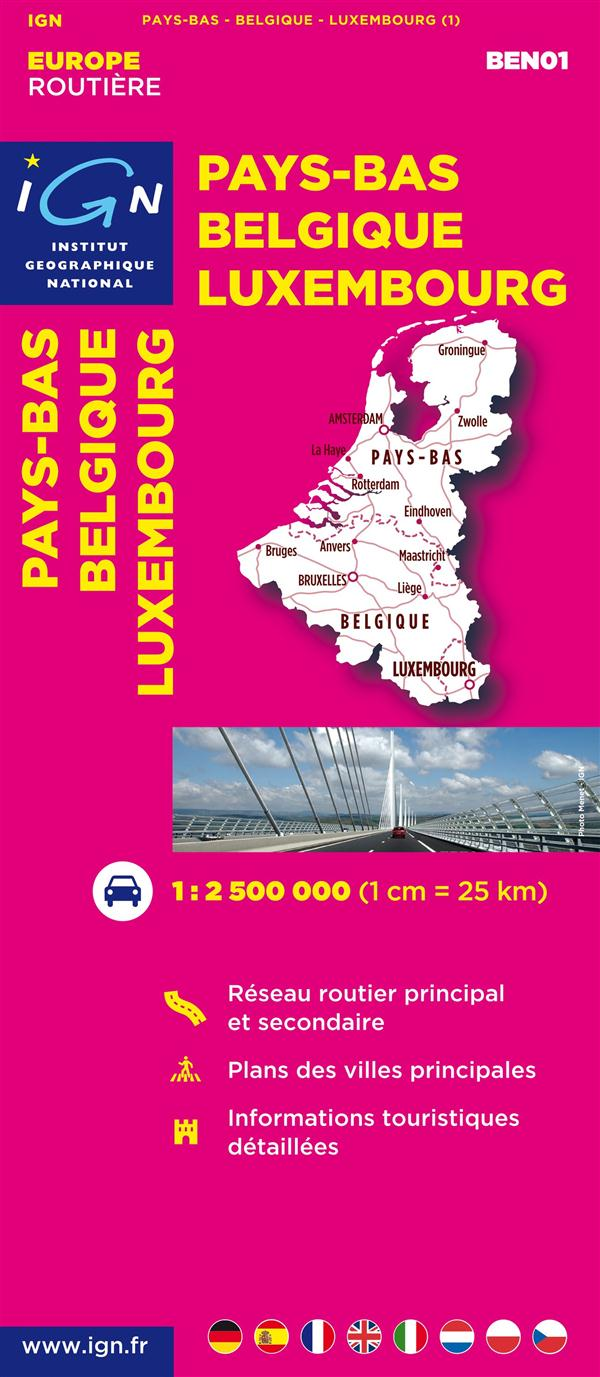 AED BEN01 PAYS-BAS/BELGIQUE/LUXEMBOURG  1/300.000