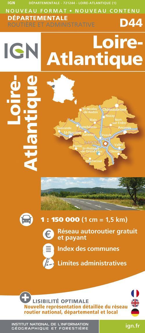 AED D44 LOIRE-ATLANTIQUE  1/150.000
