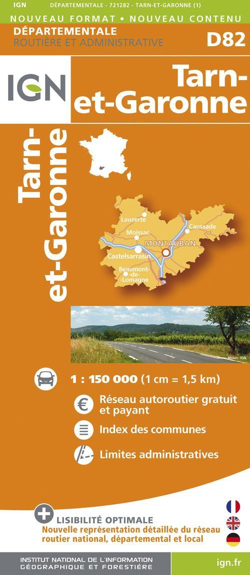 AED D82 TARN-ET-GARONNE  1/150.000