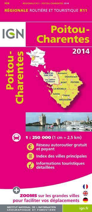 POITOU/CHARENTES 2014  1/250.000