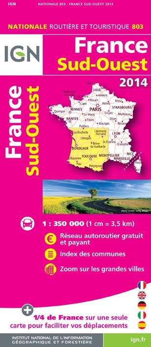AED FRANCE SUD-OUEST 2014  1/350.000