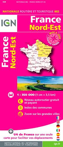 AED 802 FRANCE NORD-EST  1/350.000