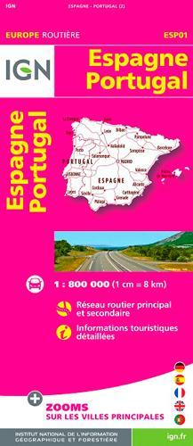 ESP01 ESPAGNE/PORTUGAL  1/800.000