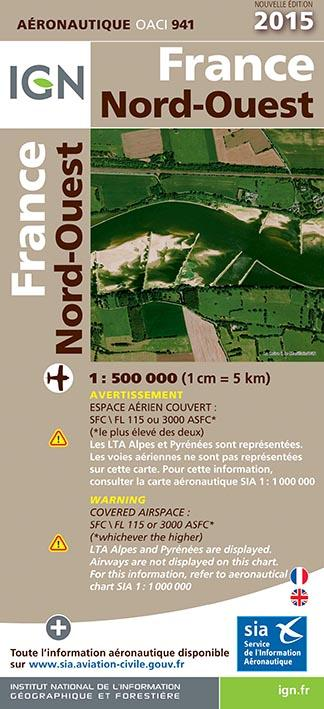 AED OACI941 FRANCE NORD-OUEST 2015 1/500.000