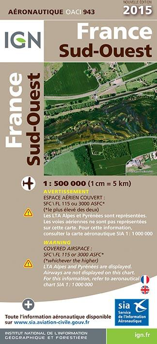 AED OACI943 FRANCE SUD-OUEST 2015  1/500.000
