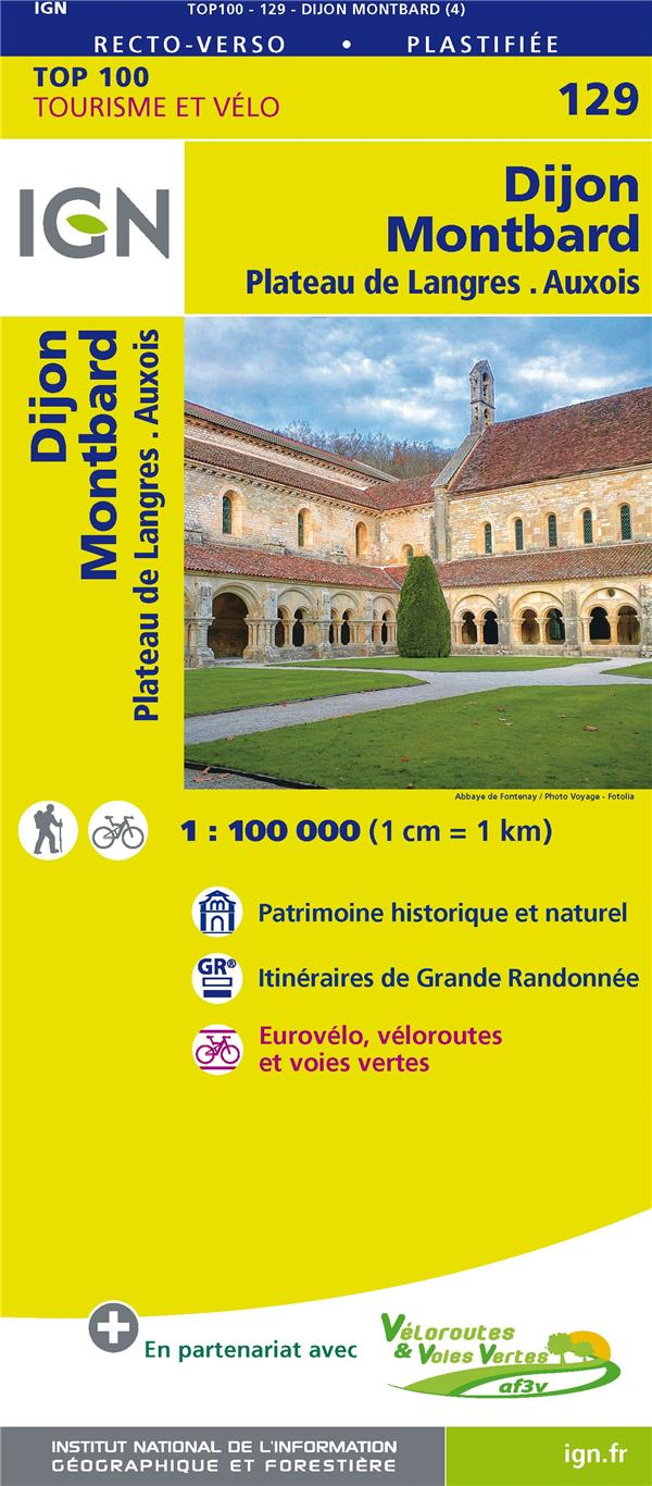 TOP100129 DIJON/MONTBARD  1/100.000