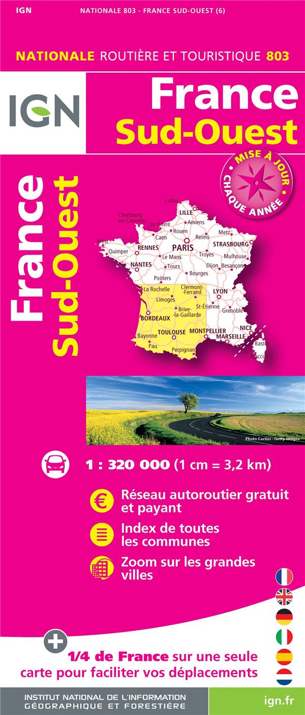 1M803 FRANCE SUD-OUEST 2018 (1 : 320 000)